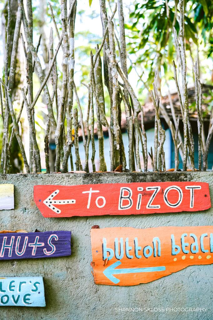 Signs at Goldeneye Resort Jamaica