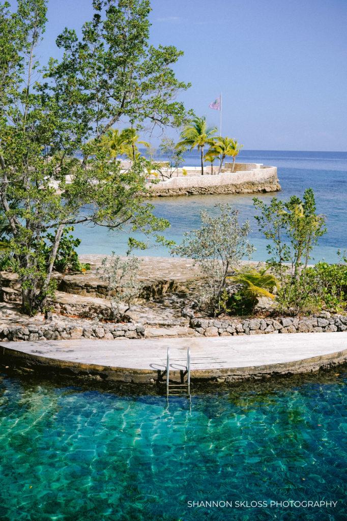 Lagoon at Goldeneye Resort in Jamaica