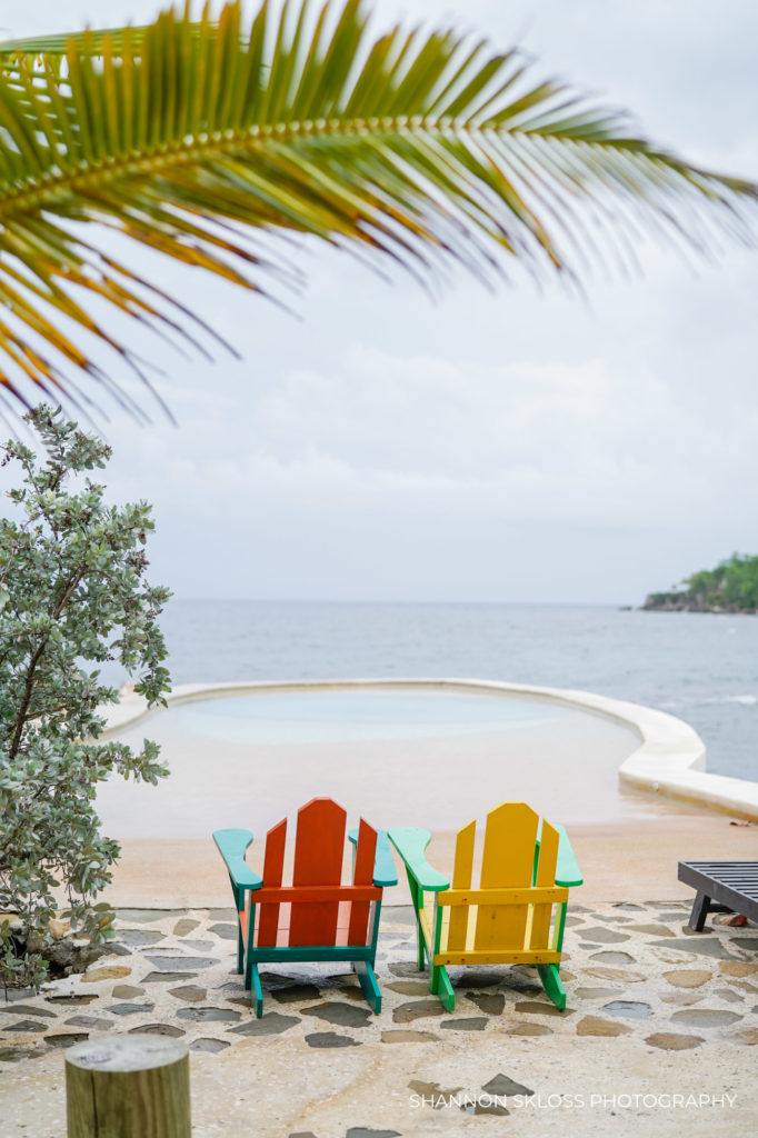 Eye pool at Goldeneye Resort