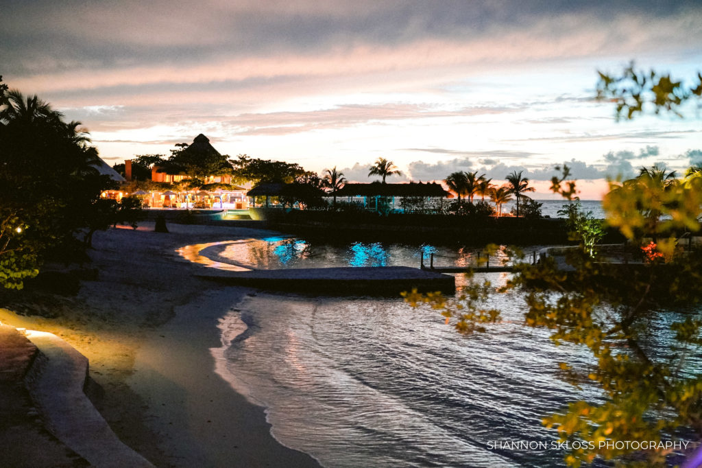 goldeneye resort at night by shannon skloss